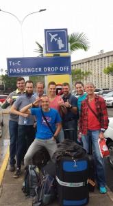 Abreise am Flughafen Nairobi