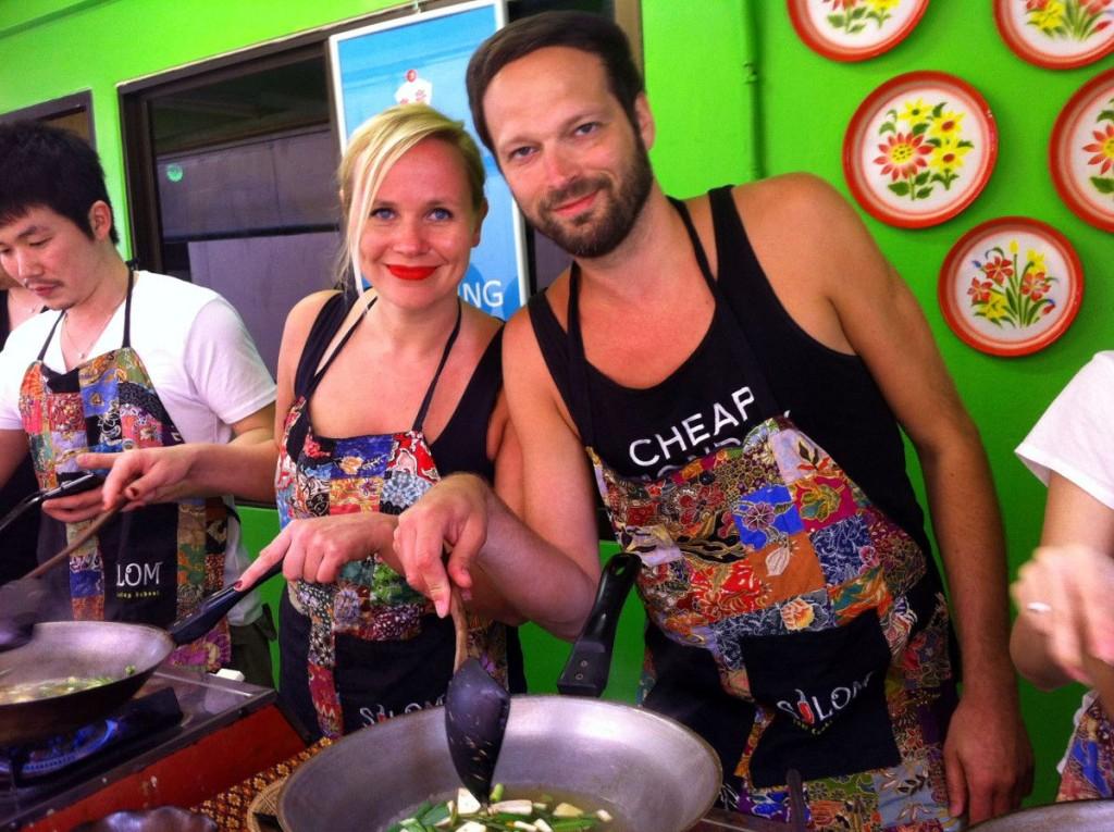 Kochen in Bankok: Kirsten und Matthias