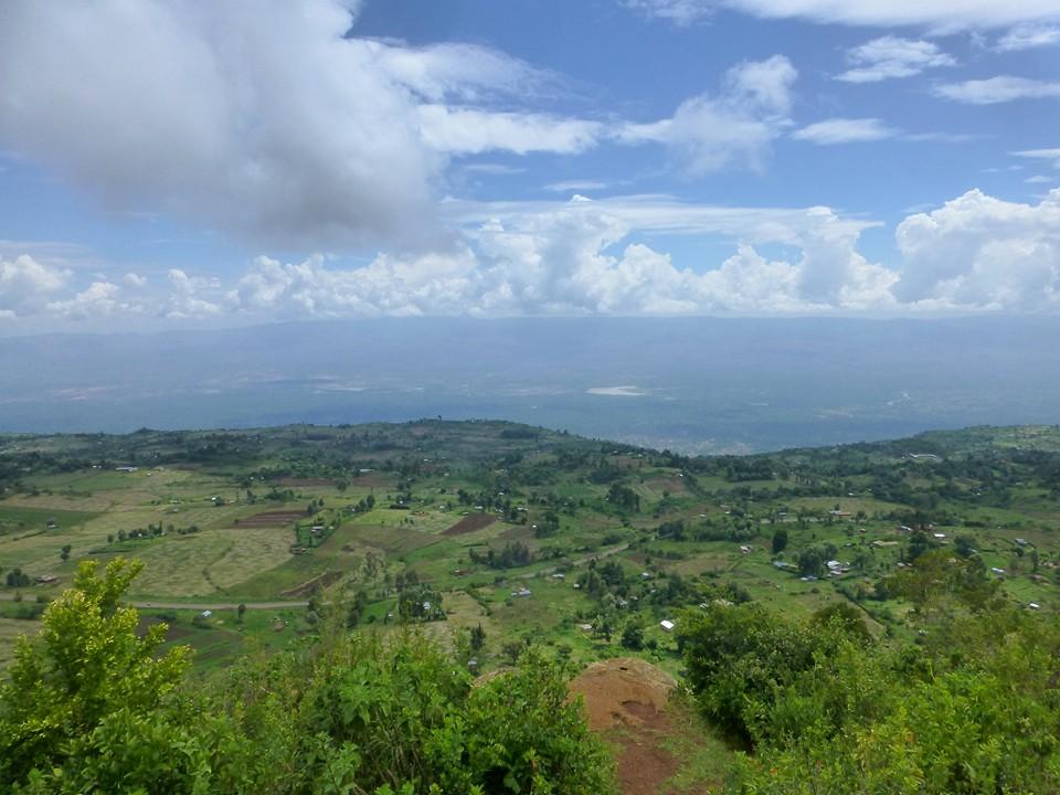 Blick vom Hotel über das Rift Valley in Kenia